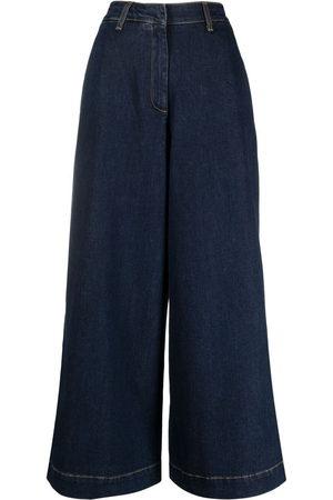 L'Autre Chose Damen Cropped - Jeans mit weitem Bein