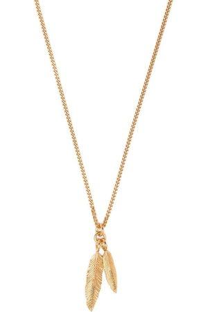 EMANUELE BICOCCHI Twin feather pendant necklace