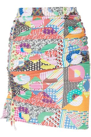 GCDS Mix-print fitted skirt