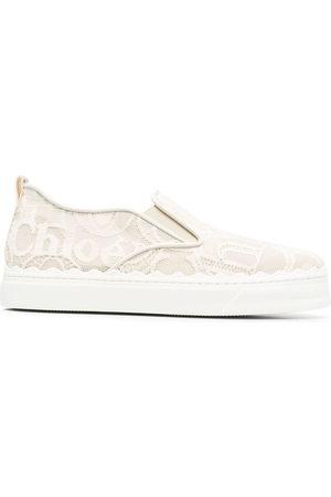 Chloé Bestickte Slip-On-Sneakers