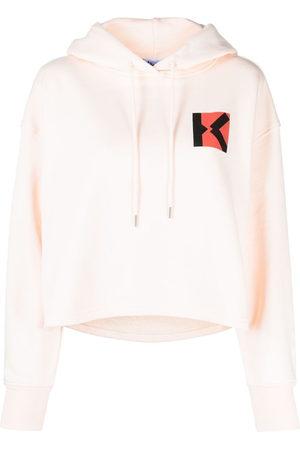 Kenzo Damen Sweatshirts - Sport Blocked K hoodie - Nude