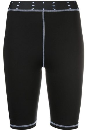 McQ Damen Stretchhosen - Radlerhose mit Logo