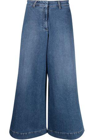 L'Autre Chose Cropped wide-leg jeans