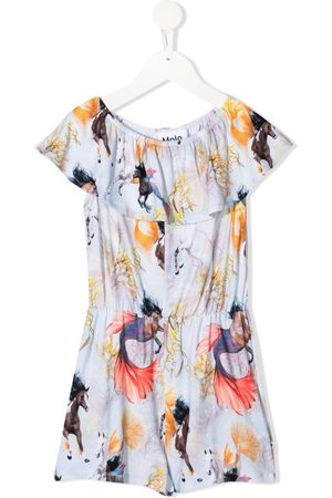 Molo Playsuit mit Horses of the Sea-Print
