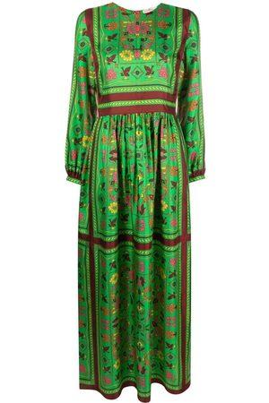 Tory Burch Damen Freizeitkleider - Langes Seidenkleid mit Print