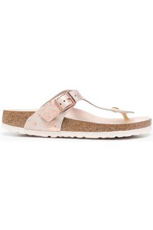 Birkenstock Damen Flip Flops - Marble-print flip flops