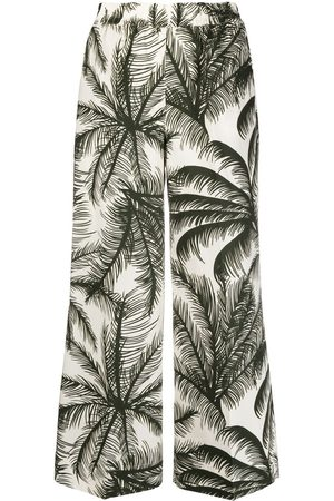 P.a.r.o.s.h. Palm print cropped trousers
