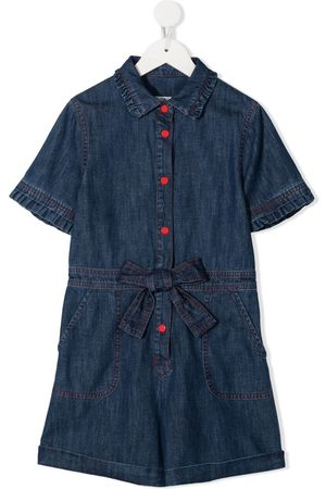 PHILOSOPHY DI LORENZO SERAFINI Mädchen Jumpsuits - Jeans-Playsuit mit Logo-Stickerei