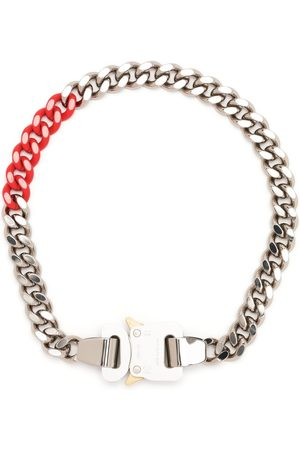 1017 ALYX 9SM Two-tone curb chain buckled necklace