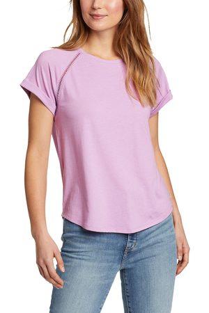 Eddie Bauer Damen Shirts - Myriad T-Shirt - mit Lochstickerei Damen Gr. XS