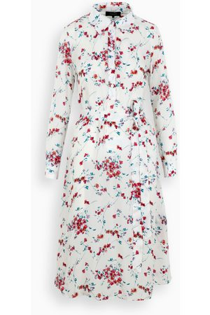 POUSTOVIT Floral printed white dress