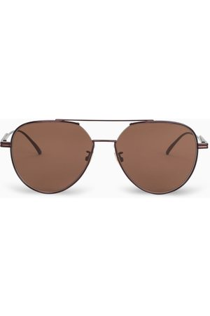 Bottega Veneta Brown Aviator sunglasses