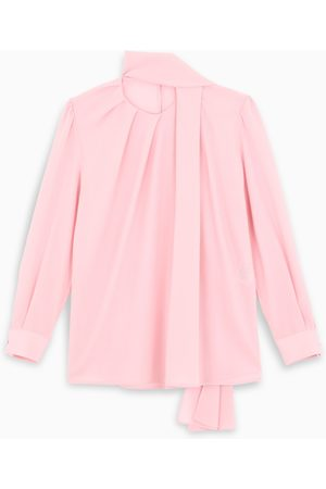 Alexander McQueen Pink scarf-style blouse