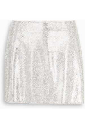 NUE' Silver mini skirt Camille
