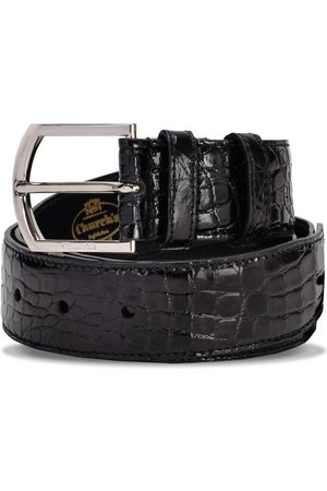 Church's Black crocodile leather belt