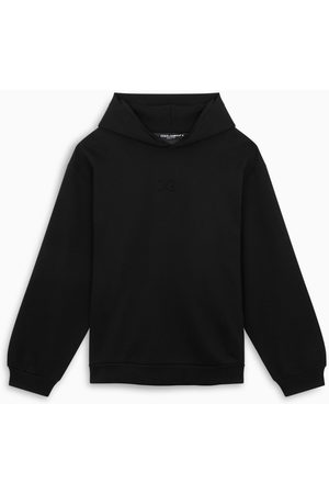 Dolce & Gabbana Black hoodie with logo embroidery