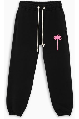 Palm Angels Black palm tree print joggers