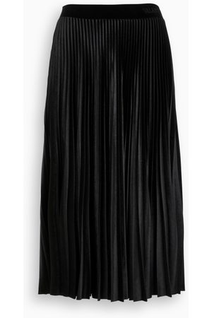 VALENTINO Black pleated skirt