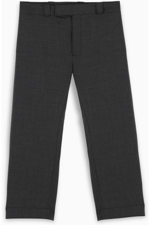 Prada Slate grey wool poplin pants