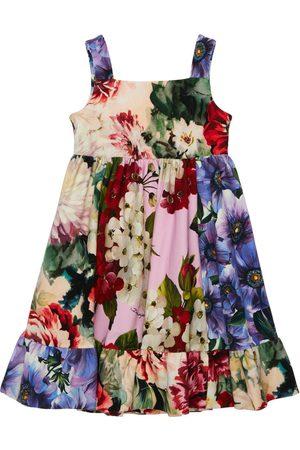 Dolce & Gabbana Kleid Aus Baumwollinterlock Mit Druck