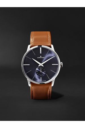 Junghans Meister Handaufzug 37.7mm Stainless Steel and Leather Watch, Ref. No. 027/3504.00