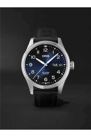 Oris Big Crown ProPilot Big Day Date Automatic 44mm Stainless Steel and Leather Watch, Ref. No. 01 752 7760 4065-07 5 22 08LC