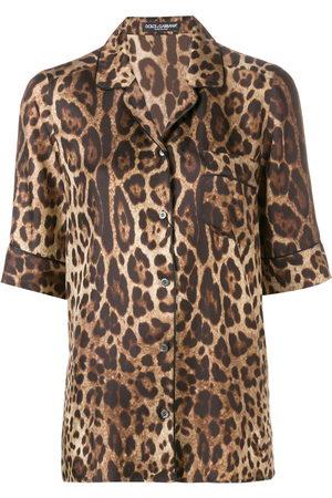 Dolce & Gabbana Hemd mit Leoparden-Print