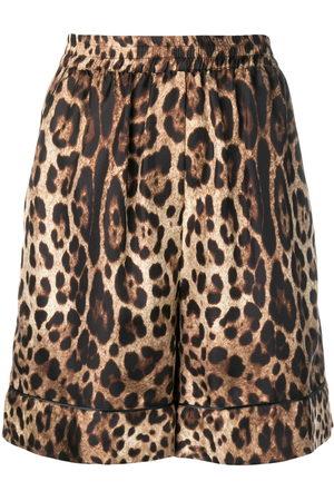 Dolce & Gabbana Damen Shorts - Shorts mit Leo-Print