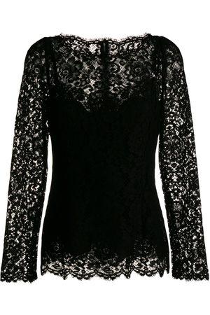 Dolce & Gabbana Damen Oberbekleidung - Oberteil aus Spitze