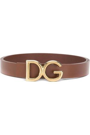 Dolce & Gabbana Herren Gürtel - Gürtel mit Logo-Schild