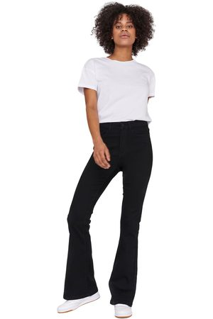 Noisy May Damen High Waisted - Sallie High Waist Flare Jeans Girl-Jeans