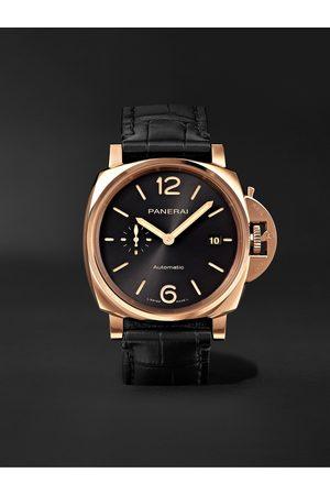 PANERAI Herren Uhren - Luminor Due Automatic 42mm Goldtech and Alligator Watch, Ref. No. PAM01041