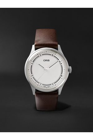 Oris Art Blakey Limited Edition Automatic 38mm Stainless Steel and Leather Watch, Ref. No. 01 733 7762 4081-Set