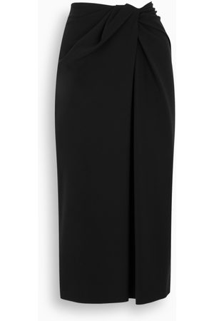 VALENTINO Damen Midiröcke - Black pencil midi skirt