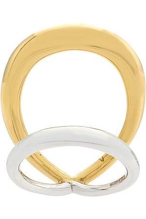 CHARLOTTE CHESNAIS Surma' Ring aus Silber und Gelbgold-Vermeil - Metallisch