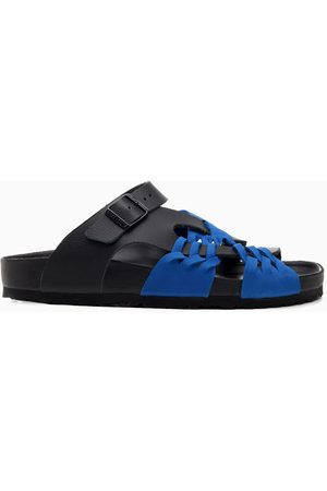 BIRKENSTOCK x CSM Damen Strings - Black/blue Tallahassee Archive thongs