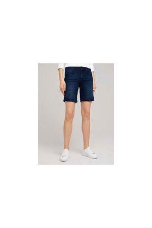 TOM TAILOR Alexa Slim Bermuda Jeans, Damen, Clean Dark Stone Blue Denim, Größe: 28