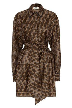 Fendi Damen Kleider - Kleid Aus Twill In