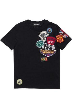 Dsquared2 T-shirt Aus Baumwolljersey Mit Patches