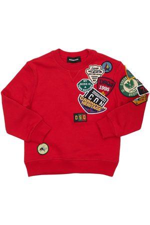 Dsquared2 Mädchen Sweatshirts - Sweatshirt Aus Baumwolle Mit Patches