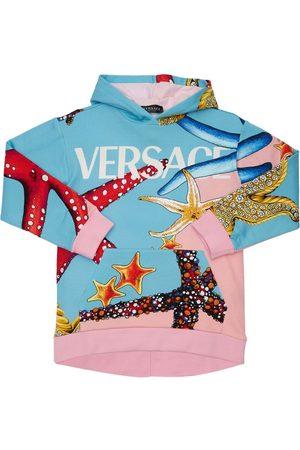 VERSACE Mädchen Sweatshirts - Hoodie Aus Baumwollfleece Mit Verzierung