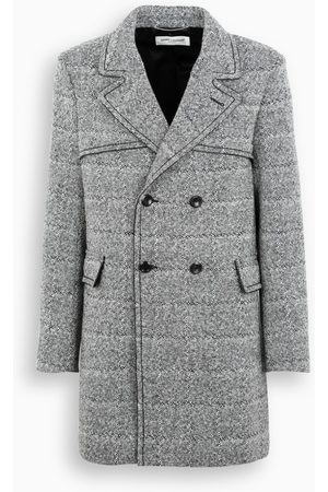 Saint Laurent Checked double-breasted coat