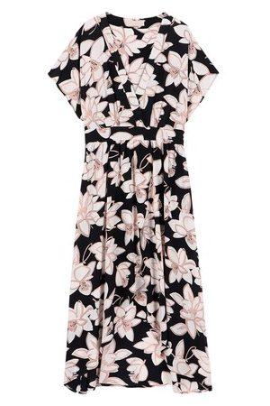 MOMONÍ Damen Kleider - Kleid Varese aus bedrucktem Crêpe de Chine