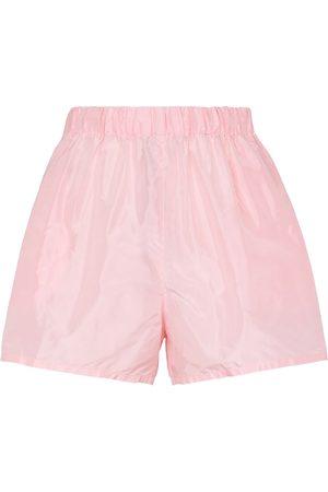 Prada Damen Shorts - Shorts aus Seidentaft