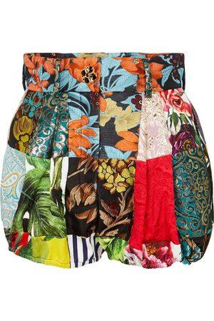 Dolce & Gabbana Shorts aus Twill mit Brokat