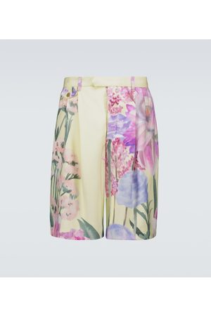 King and Tuckfield Bedruckte Shorts aus Cupro