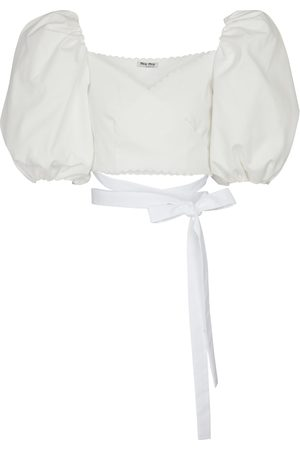 Miu Miu Cropped-Top aus Baumwolle