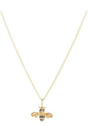 Sydney Evan Halskette Bumblebee aus 14kt Gelbgold mit Diamanten und Saphiren