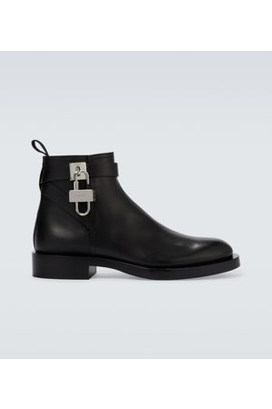 Givenchy Ankle Boots Padlock aus Leder