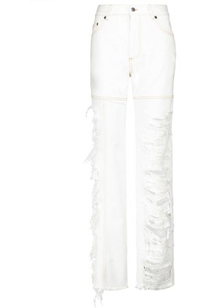 Peter Do High-Rise Distressed Straight Jeans